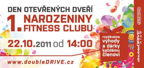 Dny otevřených dveří 22.-23.10. - 1. narozeniny fitness clubu