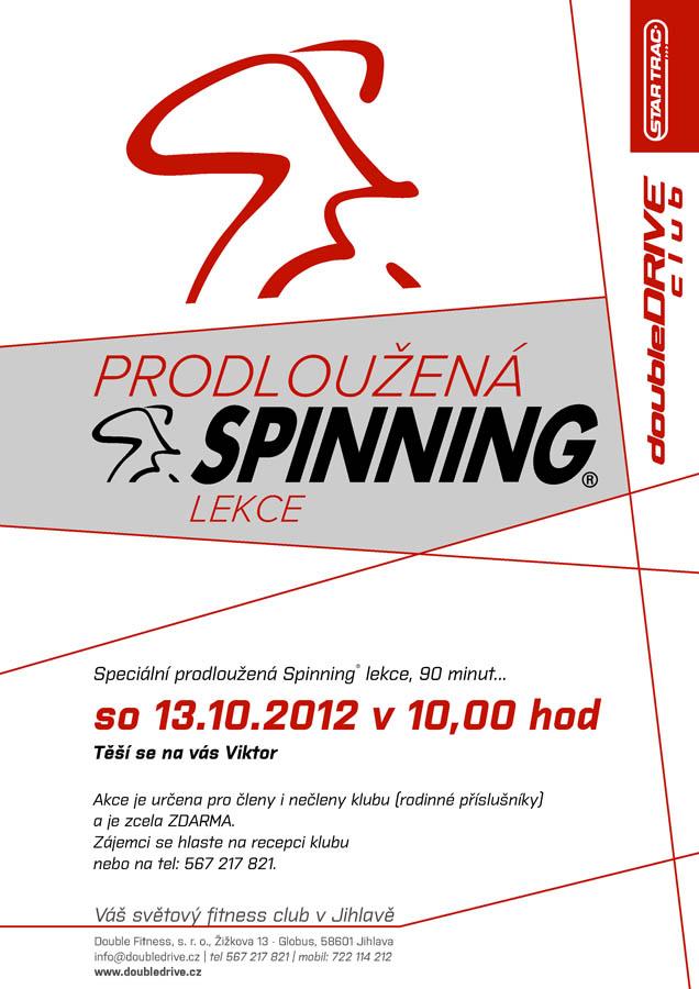 Speciální prodloužená Spinning® lekce