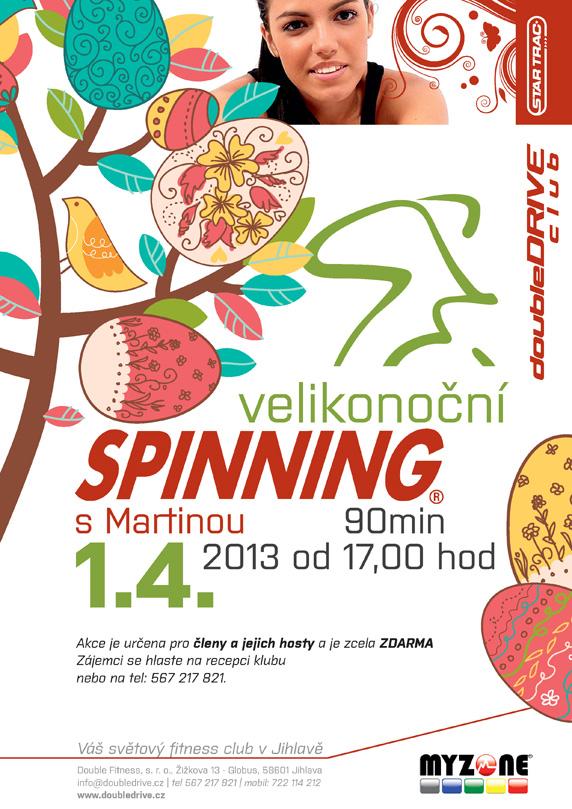 velikonocni spinning doubledrive club fitness jihlava