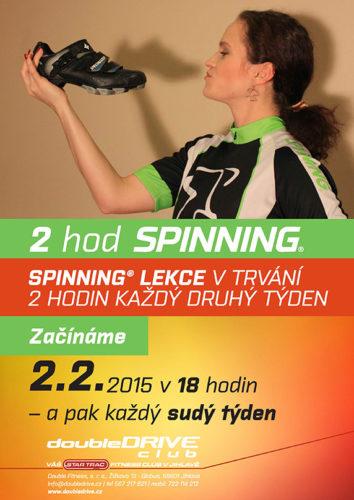 Spinning® lekce v trvání 2 hodin každý druhý týden