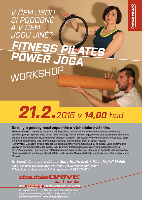 Workshop - Fitness pilates + power joga