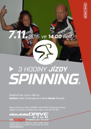 3 hodiny Spinning