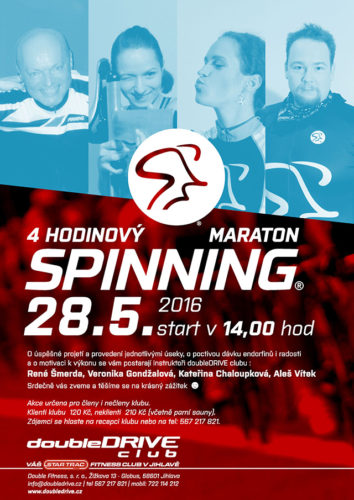 4 hodinový Spinning® maraton - 28. 5.