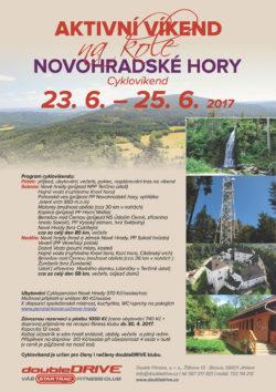 NOVOHRADSKÉ HORY - Cyklovíkend 23.-25. 6. 2017