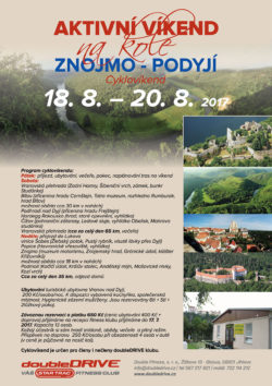 ZNOJMO - PODYJÍ - Cyklovíkend 11.-13. 8. 2017