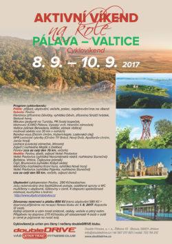 PÁLAVA - VALTICE - Cyklovíkend 8.-10. 9. 2017