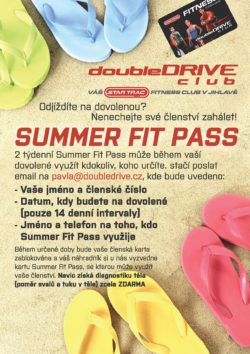 Summer Fit Pass ve vašem fitness klubu Jihlava