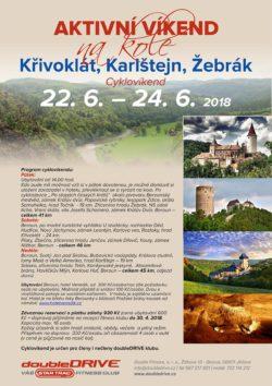 Křivoklát, Karlštejn, Žebrák - Cyklovíkend 22.-24. 6. 2018