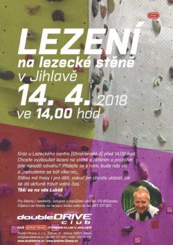 Lezení na lezecké stěně v Jihlavě - 14. 4. 2018