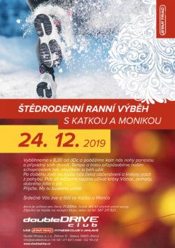 Štědrodenní ranní výběh s Katkou a Monikou - 24. 12. 2019