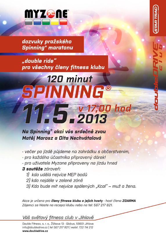 """Spinning® """"double ride"""" 2 hod. jízda – 11.5.2013"""