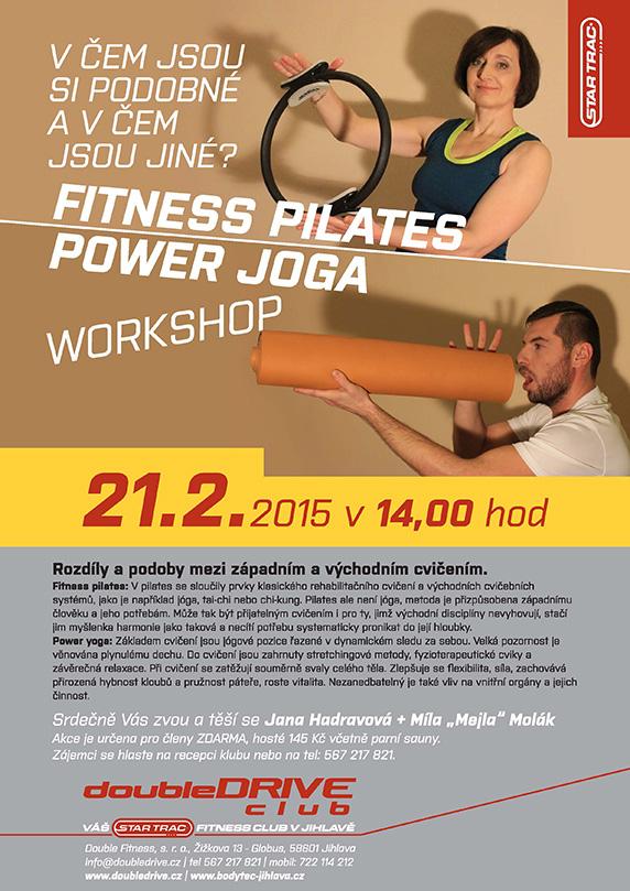 Workshop - Fitness pilates + power joga