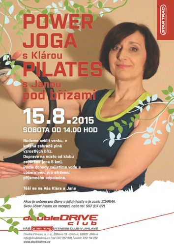 Power jóga pod břízami s fitness doubleDRIVE Jihlava
