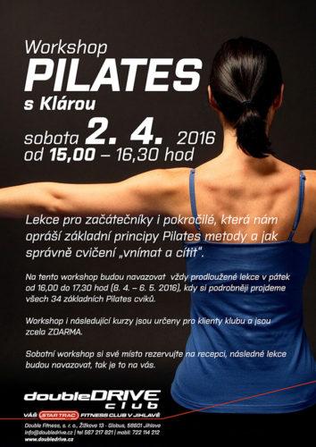 Workshop Pilates s Klárou - 2. 4. 2016