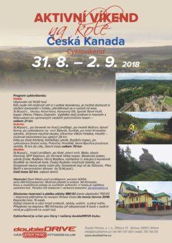 Česká Kanada - Cyklovíkend 31. 8. – 2. 9. 2018