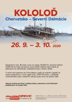 KOLOLOĎ - Chorvatsko – Severní Dalmácie - NOVÝ TERMÍN
