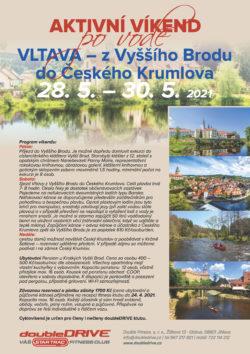 Vltava z Vyššího Brodu  do Českého Krumlova  28. 5. – 30. 5. 2021