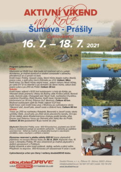 Cyklovíkend Šumava - Prášily 16. 7. – 18. 7. 2021