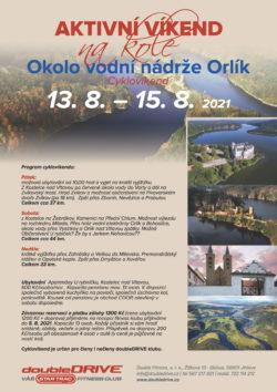 Okolo vodní nádrže Orlík - Cyklovíkend 13. 8. – 15. 8. 2021
